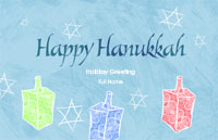 Hanukkah4 Greeting Card (55x85)